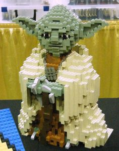 lego yoda -- Amazing what you can do with Legos! You'll see some really neat creations at the Lego Store in DD.