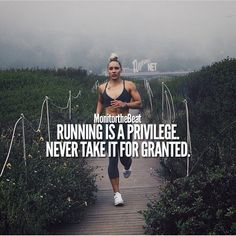 You don't miss it until your body wont let you do it... run while you can! (Fitness Inspiration Running)