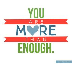 For all you moms out there...You are enough! This is such a great reminder of the big picture of parenting.