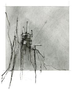"""ISSUE: 007, """"Observatory, Restaurant Tower, Thekla"""" [designed by Johanna Reed;  Sketch concept"""