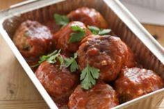 Mum's meatballs in barbecue sauce