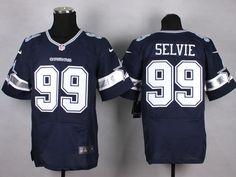 bf14fa907 Nike Dallas Cowboys  99 George Selvie Navy Blue Team Color NFL Elite Jersey