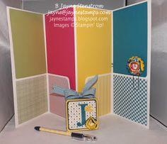 "Inside of altered file folder (made with ""Gingham Garden"" designer series paper)."