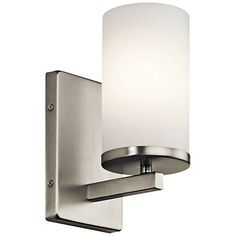 "Kichler Crosby 9 1/4"" High Brushed Nickel Wall Sconce - #16W59 