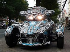 Airbrush Can-Am Spyder RT limited - Transformer paint job