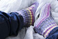 tricoter des chaussettes simples