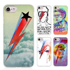 David Bowie Clear Cell Phone Case Cover for Apple iPhone 4 4s 5 5s SE 5c 6 6s 7 Plus