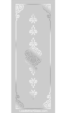 All of our Victorian and Traditional etched glass designs can be used with any border so the images below can be used to create your [. Window Glass Design, Frosted Glass Design, Frosted Glass Door, Stained Glass Door, Sandblasted Glass, Etched Glass, Glass Etching Designs, Wooden Glass Door, Pooja Room Door Design