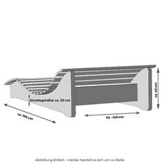 Massivholzliege Formliege Relaxliege Holzliege Gartenliege Sonnenliege massiv kaufen bei Ledge Lounger In-Pool Chaise Outdoor Furniture Plans, Pallet Furniture, Furniture Design, Diy Exterior Furniture, Chair Design, Diy Chair, Diy Patio, Diy Wood Projects, Woodworking Projects