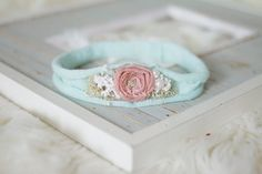 Newborn Photo Prop - Newborn Headband. Newborn Tieback. Newborn Halo. Newborn Crown. Organic Photography Props, Pink, Peach