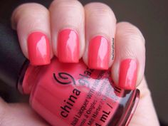 Strike A Rose is a magenta pink creme polish with light silver shimmers.