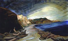'…an isolated little old woman on the edge of nowhere…' – Emily Carr St Ives can weave its magic in unexpected ways. To Emily Carr, a Tom Thomson, Canadian Painters, Canadian Artists, Landscape Art, Landscape Paintings, Abstract Paintings, Oil Paintings, Emily Carr Paintings, Vancouver Art Gallery