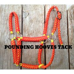 Woven Horse Halters by PoundingHoovesTack on Etsy