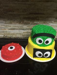 Yo gabba gabba cake and smash cake