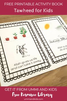 Free Printable activity book to teach kids about Tawheed. Ramadan Activities, Free Activities For Kids, Ramadan Crafts, Kids Activity Books, Book Activities, Preschool Activities, Islamic Books For Kids, Islam For Kids, Prayer Crafts