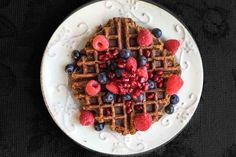 17 Chia Seed Breakfasts To Start Your Day Right - vegan chia seed waffles!