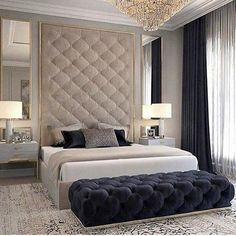 Discover the Ultimate Master Bedroom Styles and Inspirations Nightstands, beds, side tables, cabinets or armchairs are some of the luxury bedroom furniture tips that you can find. Every detail matters when we are decorating our master bedroom, right? Modern Luxury Bedroom, Luxury Bedroom Furniture, Luxury Bedroom Design, Master Bedroom Design, Luxury Home Decor, Luxury Interior Design, Luxurious Bedrooms, Home Bedroom, Home Design