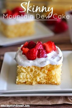 Skinny Mountain Dew Cake.. This looks so summery and light.  Perfect barbeque dessert.  I'm going to test this during the week for my Shrinking On a Budget Meal Plan