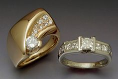 Custom engagement rings! Uniquely designed to be just right for you.