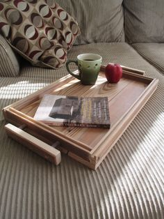 $45 Serving Tray Reclaimed Wood Custom by ViandIWoodProducts on Etsy
