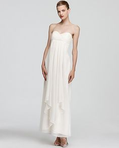 Laundry By Shelli Segal Strapless Dress Pleated Top Bloomingdale S Follow Us On