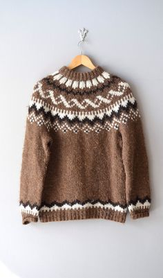 "Lopapeysa in classic Gefjun pattern (by Istex).  Inaccurately listed as ""1960s Dunwoody fair isle sweater"". Huh??? So much b.s., I can't even..."