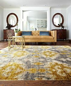 Distinguished by its bright and bold color palette, the Xavier Collection by Loloi Rugs provides the perfect centerpiece for a variety of rooms! #ikat #interiors