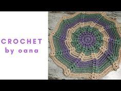 So beautiful!!!!Crochet chair cover, potholder, cushion, carpet, table cloths by Oana - YouTube