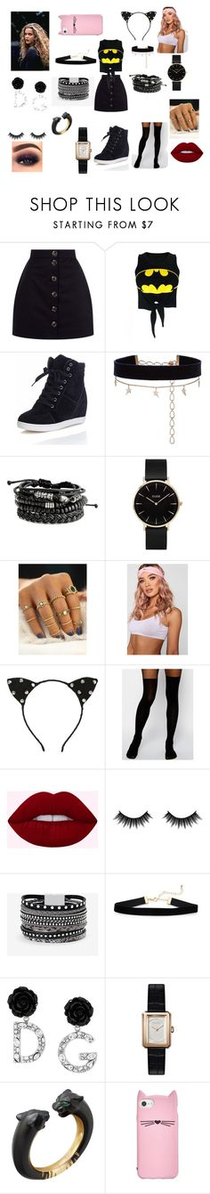 """two options bman"" by missharley-quinnzp ❤ liked on Polyvore featuring WithChic, Diane Kordas, CLUSE, Boohoo, Hot Topic, ASOS, Morphe, White House Black Market, Dolce&Gabbana and Chanel"