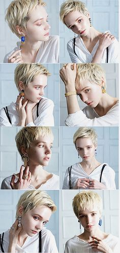 Short Hair With Layers, Short Hair Cuts, Short Hair Styles, Girls Short Haircuts, Short Hairstyles For Women, Pixie Haircut, Hairstyles Haircuts, Shadow Portraits, Corte Y Color