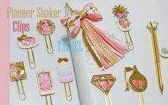 GORGEOUS Planner Shaker Clips & Ribbon Tassels!
