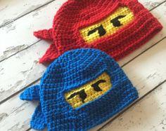 Lego Ninjago crochet hat, Halloween, beanie, hat, Ninja