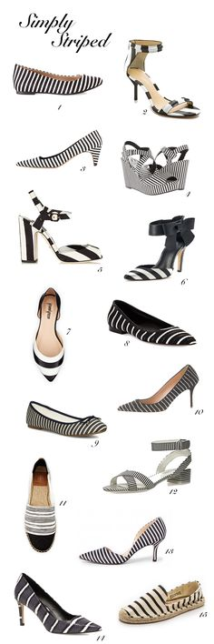 striped shoes (in all price ranges!)