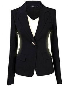 Blazer Plus Size Suits for Women Work Wear Black Blazer