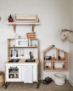 Baby Room Design, Baby Room Decor, Toddler And Baby Room, Ikea Duktig, Ikea Dollhouse, Montessori Playroom, Ikea Nursery, Ikea Kids, Toy Rooms
