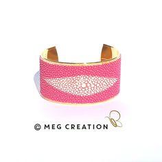 Manchette Galuchat www.meg-creation.com Muriel, Creations, Belt, Accessories, Fashion, Fine Jewelry, Hands, Belts, Moda