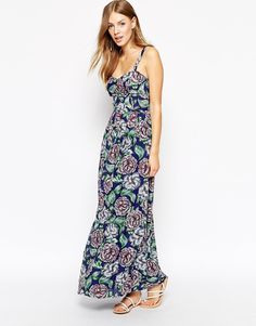 French Connection Bonita Spring Maxi Dress in Floral Print