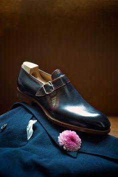 ♂ Man's fashion accessories shoes beau soulier et le fleur de veste GT