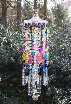Crystal Wind Chime Sun Catcher, lots of color and sparkle for the garden.