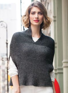 Cocoon Vest by Theresa Schabes, knit in Berroco Lustra, Vogue Knitting Fall 2015