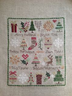Counted Cross Stitch Christmas Sampler by Jeanette Douglas