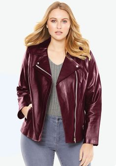 ba8d122441d Shop for Leather Moto Jacket and more Plus Size Coats   Jackets from  fullbeauty. Your Online Fashion Mall for Sizes to