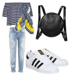 """Untitled #19"" by kellysiahalim on Polyvore featuring Topshop, Dsquared2, adidas, Stella & Dot and Monki"