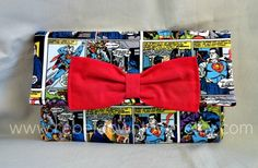 Simple Colored Superman Comic Wallet with Red by RebelDowntown, $12.00
