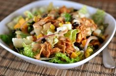 BBQ Chicken Salad with Creamy BBQ Cilantro Lime Dressing