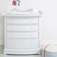 LUXURY BABY CHANGE UNIT in White with Removable Top #dreamnursery @cuckoolandcom #Baby #Nursery #Cute #Sweet #NurseryIdeas