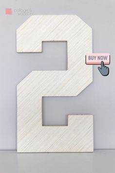 """These 1/2 wood letters are perfect for painting and decorating! These are 1/2"""" thick plywood.We have 12"""" tall up to 42"""" tall available. Smaller sizes available in thinner wood.These letters are perfect for photo props, wedding decor, or home and nursery decor. They are lightly sanded for you and ready for painting, adding decorations, or left as unfinished wood. Not recommended for outdoor use. Unfinished Wood Letters, Wooden Numbers, Letter A Crafts, Plywood, Photo Props, Nursery Decor, Wedding Decorations, Collage, Symbols"""