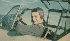 "Walter Horten of III./JG 26 in the cockpit of his Messerschmitt Bf 109 E ""White 7""."