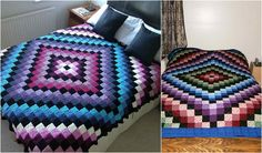 This amazing blanket is made from solid granny squares. This amazing effect was achieved using 13, and the size of the complete quilt will be just right as a bedspread for queen size bed. The pattern is very easy and the final effect is eye-catching!For more free designs every day follow us onFac