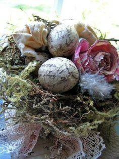Handmade Bird Nest-Vintage French Inspiration